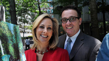June: KDKA television's Marty Griffin and Kristine Sorenson, husband and wife.