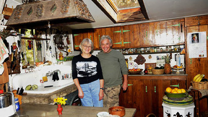 November: Ted and Kathy Carns in their Stone Camp house near Ligonier.