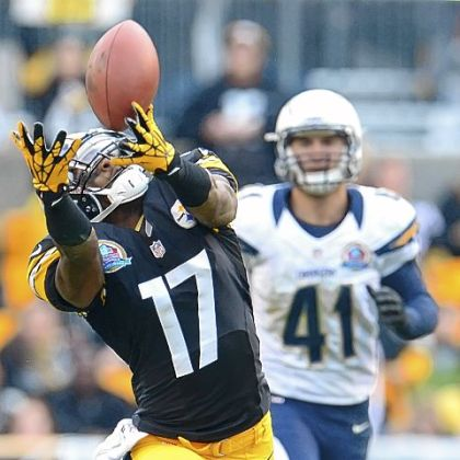 A Ben Roethlisberger pass just out of the reach of Steelers' receiver Mike Wallace