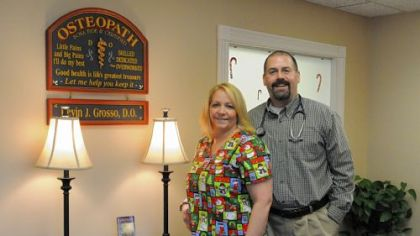"Physician Kevin and nurse Michelle Grosso run Grosso Family Medicine in Latrobe, a faith-based practice. ""We don't pray with our patients. We pray for our patients,"" Dr. Grosso said."