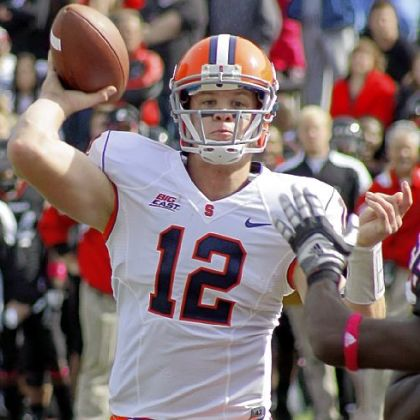 Syracuse QB Ryan Nassib might be the key to today's Pinstripe Bowl.