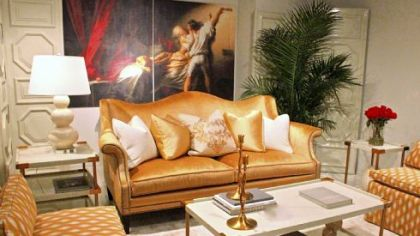 A grouping in gold tones by Bernhardt.