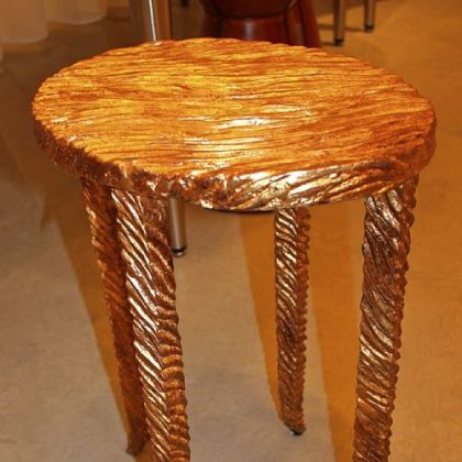Gold Waves martini table by Studio A.