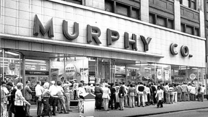 In 1979, the G.C. Murphy Co. store was still open in Downtown and selling tickets to throngs of Pirates fans hoping to attend the team's games against the Cincinnati Reds in the National League playoffs.