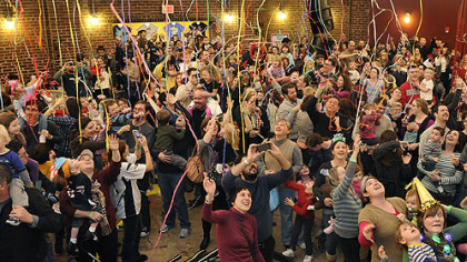 Happy Noon Year! Visitors to the Children's Museum ring in the new year with a countdown to noon at the museum's family-friendly New Year's Eve celebration.