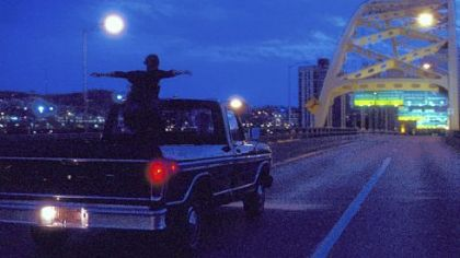 "Emma Watson crosses the Fort Pitt Bridge in ""The Perks of Being a Wallflower."""