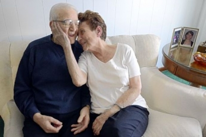 Joe and Mary Battaglia in their home in Koppel. The couple started the tradition of making Easter bread at Queen of Heaven Parish in Koppel. Joe is 93; Mary is 89.