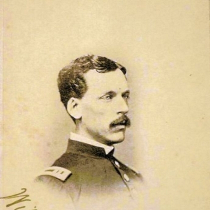 A photo of Major William Harris, who served at the Allegheny Arsenal during the Civil War, from Soldiers & Sailors Memorial Hall and Museum.