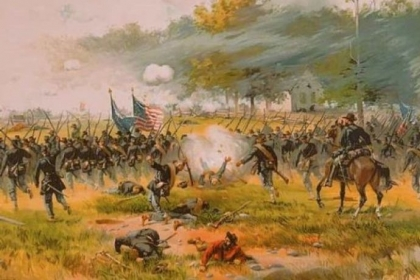 """Battle of Antietam"" by Thure de Thulstrup, circa 1887."